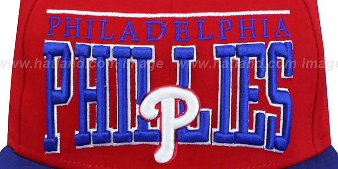 Phillies 'LE-ARCH SNAPBACK' Red-Royal Hat by New Era