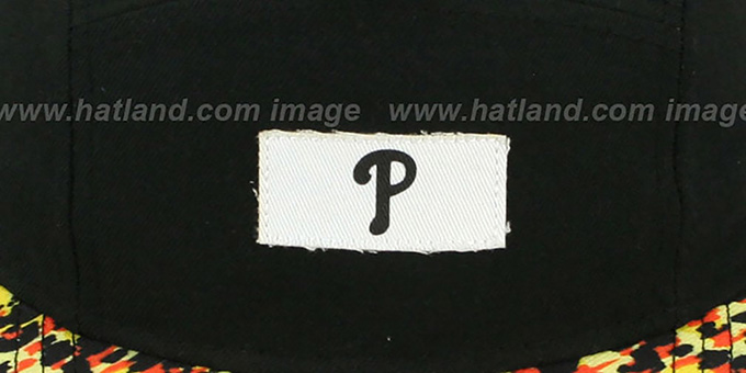 Phillies 'LEOPARD CAMPER STRAPBACK' Black Hat by New Era