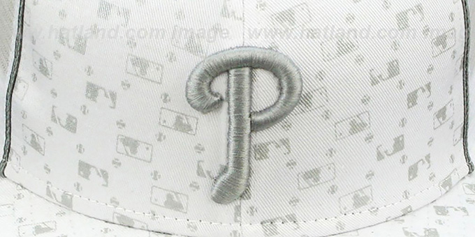 Phillies 'MLB FLOCKING' MESH-BACK White Fitted Hat by New Era