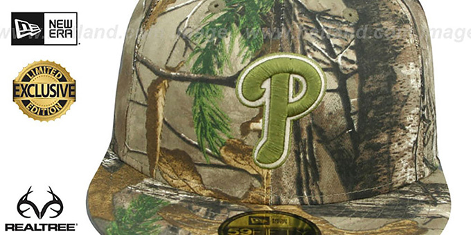 Phillies 'MLB TEAM-BASIC' Realtree Camo Fitted Hat by New Era