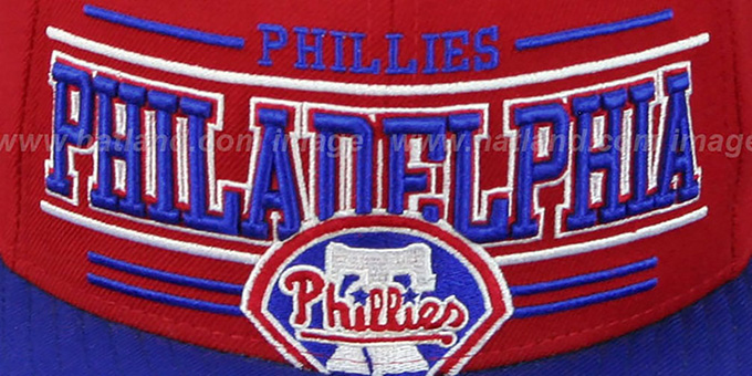 Phillies 'RETRO-SMOOTH' Red-Royal Fitted Hat by New Era