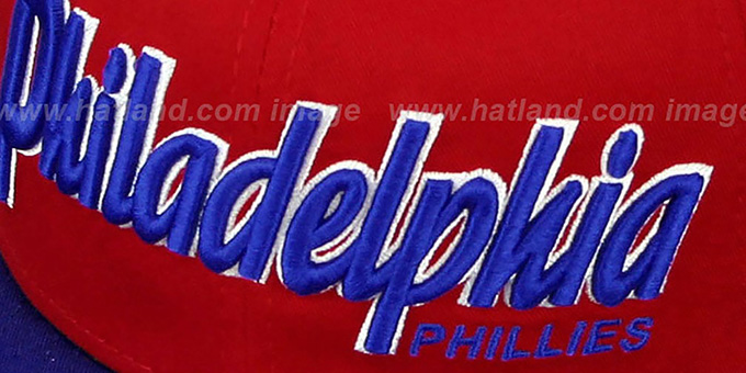 Phillies 'SNAP-IT-BACK SNAPBACK' Red-Royal Hat by New Era