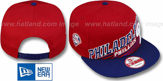Phillies 'STILL ANGLIN SNAPBACK' Red-Royal Hat by New Era