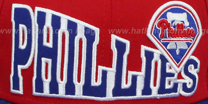 Phillies 'STOKED SNAPBACK' Red-Royal Hat by New Era