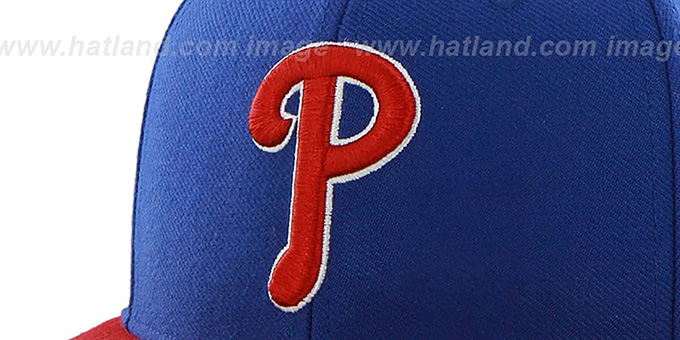 Phillies 'SURE-SHOT SNAPBACK' Royal-Red Hat by Twins 47 Brand