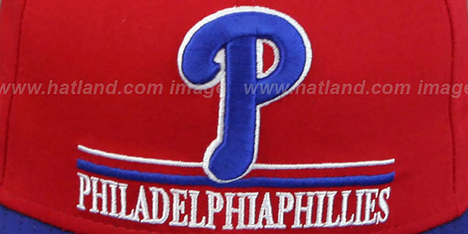 Phillies 'UNDERLINE SNAPBACK' Red-Royal Hat by New Era