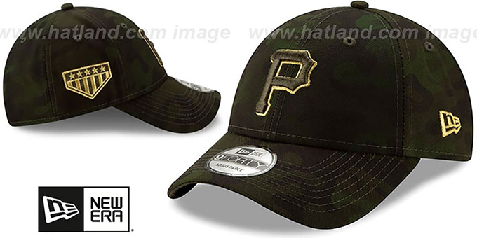 Pirates 2019 ARMED FORCES 'STARS N STRIPES STRAPBACK' Hat by New Era