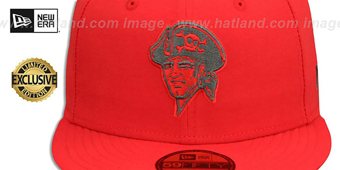 Pirates 'COOP MLB TEAM-BASIC' Fire Red-Charcoal Fitted Hat by New Era