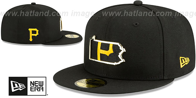 Pirates 'GOLD STATED INSIDER' Black Fitted Hat by New Era