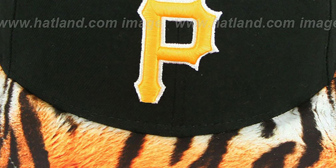 Pirates 'REAL TIGER VIZA-PRINT' Black Fitted Hat by New Era