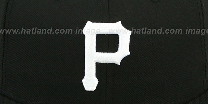 Pirates 'TEAM-BASIC' Black-White Fitted Hat by New Era