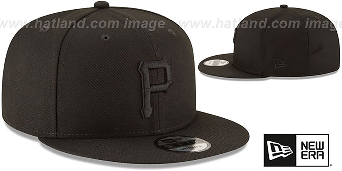 Pirates 'TEAM-BASIC BLACKOUT SNAPBACK' Hat by New Era
