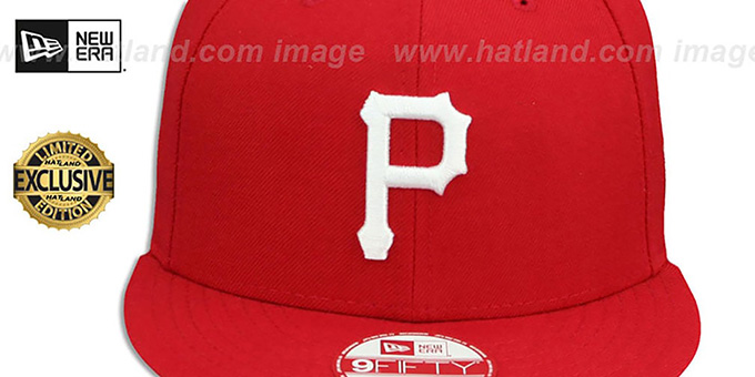 Pirates 'TEAM-BASIC SNAPBACK' Red-White Hat by New Era