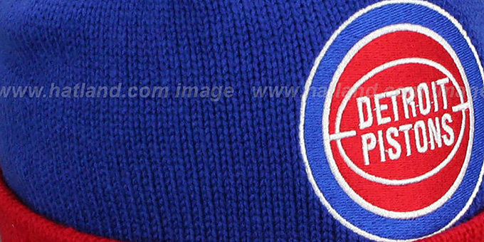 Pistons 'XL-LOGO BEANIE' Royal by Mitchell and Ness