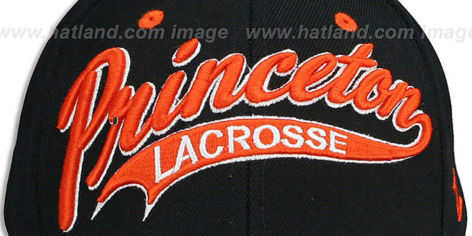 Princeton 'SWOOP LACROSSE' Black Fitted Hat by Zephyr