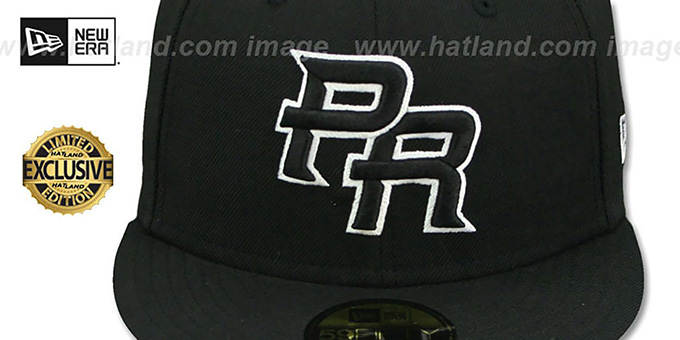 Puerto Rico PERFORMANCE WBC Black-White Hat by New Era ad0d40dc549