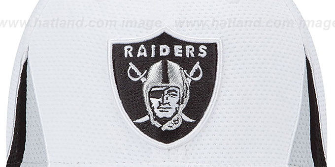 Raiders '2013 NFL TRAINING FLEX' White Hat by New Era