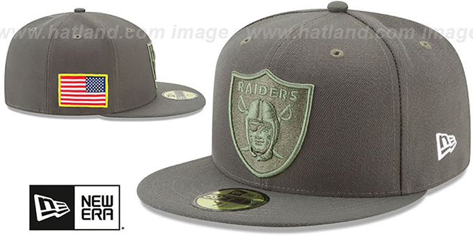 ... Raiders  2017 SALUTE-TO-SERVICE  Green Fitted Hat by New Era ... 1217241dd