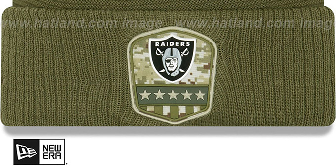 Raiders '2019 SALUTE-TO-SERVICE' Knit Beanie Hat by New Era