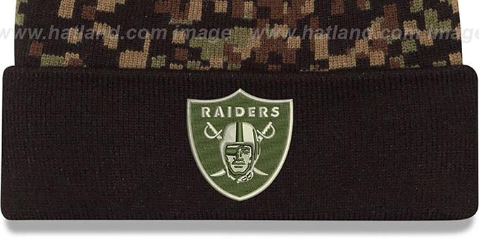 3f319862b95b2 ... Raiders  ARMY CAMO PRINT-PLAY  Knit Beanie Hat by New Era ...