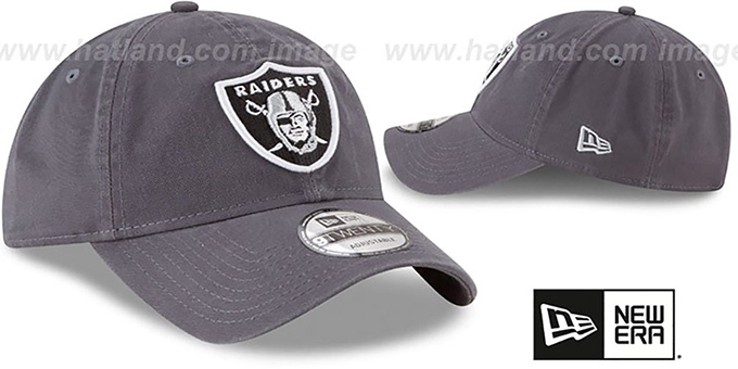 Raiders 'CORE-CLASSIC STRAPBACK' Charcoal Hat by New Era