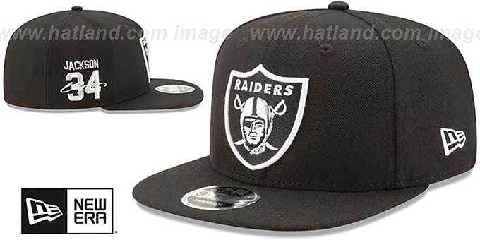 Raiders 'JACKSON SIDE-SIGN SNAPBACK' Black Hat by New Era