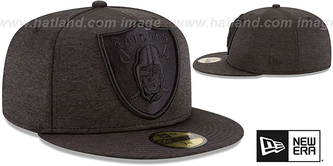separation shoes 53627 62c46 ... Raiders  MEGATONE  Black Shadow Tech Fitted Hat by New Era ...