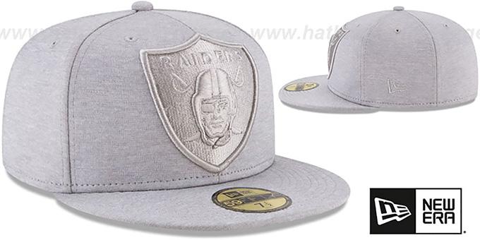 a8b4a61b778 ... Raiders  MEGATONE  Grey Shadow Tech Fitted Hat by New Era ...