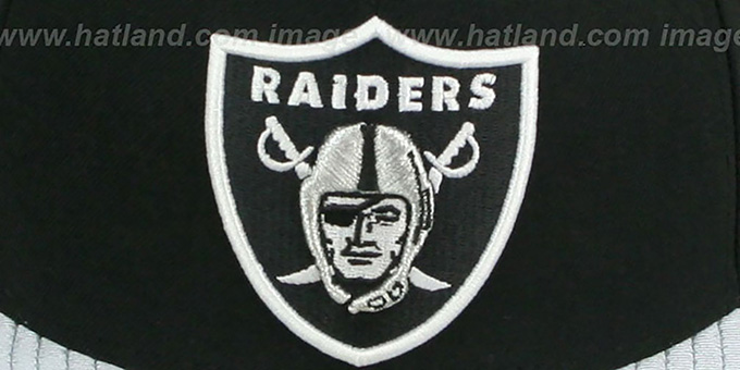 Raiders 'NFL JERSEY-BASIC' Black-Grey Fitted Hat by New Era