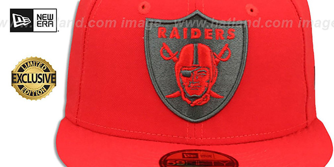 1d970ef8e78 Raiders Nfl Team Basic Fire Red Charcoal Ed Hat. New Era ...