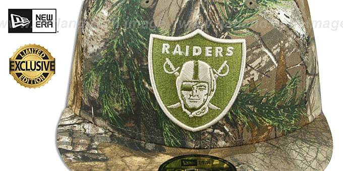 Raiders 'NFL TEAM-BASIC' Realtree Camo Fitted Hat by New Era