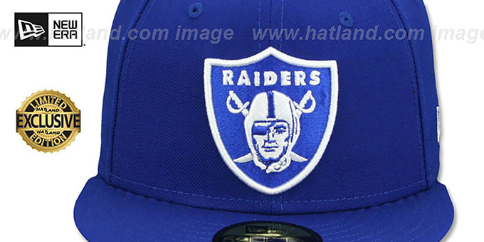 Raiders 'NFL TEAM-BASIC' Royal-White Fitted Hat by New Era