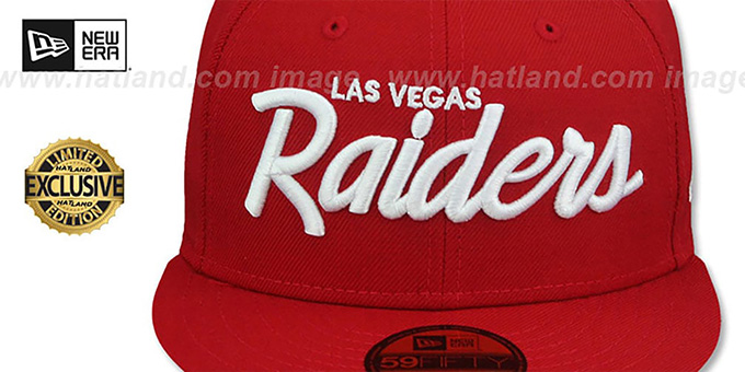 Raiders 'NFL TEAM-SCRIPT' Red Fitted Hat by New Era