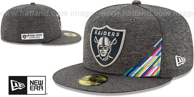Raiders 'ONFIELD CRUCIAL CATCH' Grey Fitted Hat by New Era