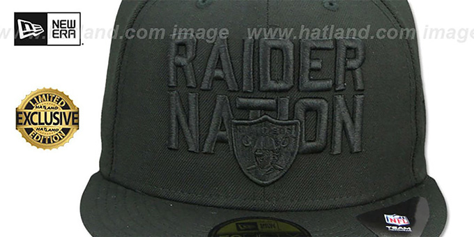 Raiders 'RAIDER-NATION BLACKOUT' Fitted Hat by New Era