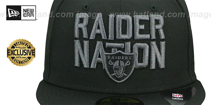 Raiders 'RAIDER-NATION FADEOUT' Fitted Hat by New Era