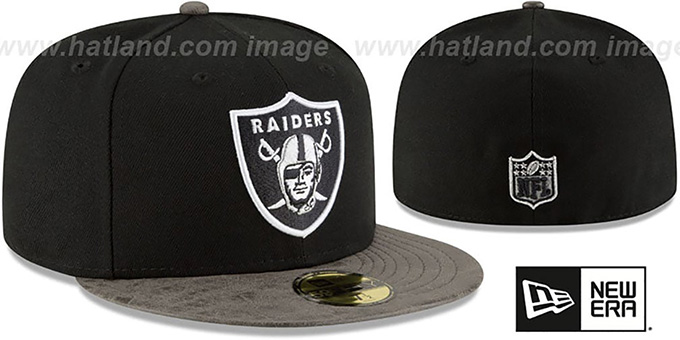 Raiders 'RUSTIC-VIZE' Black-Grey Fitted Hat by New Era