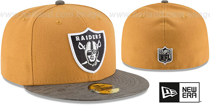 Raiders 'RUSTIC-VIZE' Wheat-Grey Fitted Hat by New Era