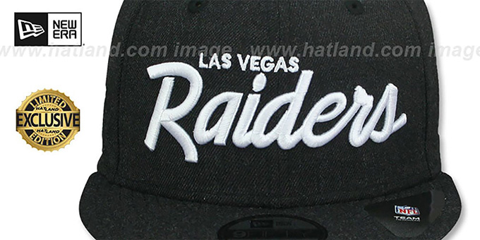Raiders 'SCRIPT TEAM-BASIC SNAPBACK' Heather Black Hat by New Era