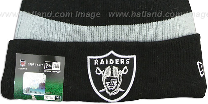 Raiders 'STADIUM' Knit Beanie Hat by New Era