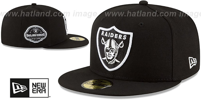 Raiders 'TEAM-SUPERB' Black Fitted Hat by New Era
