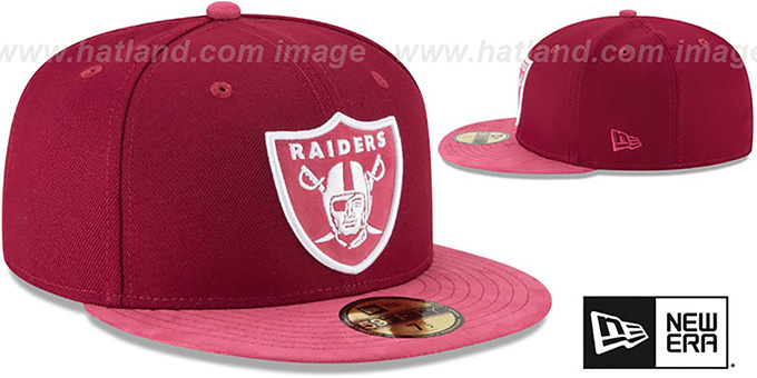 Raiders 'TONAL-CHOICE' Burgundy Fitted Hat by New Era