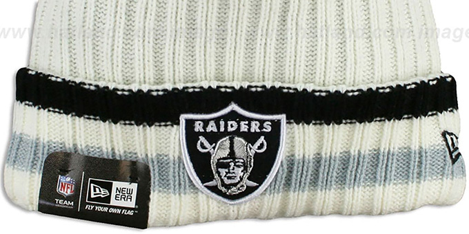 Raiders 'YESTER-YEAR' Knit Beanie Hat by New Era