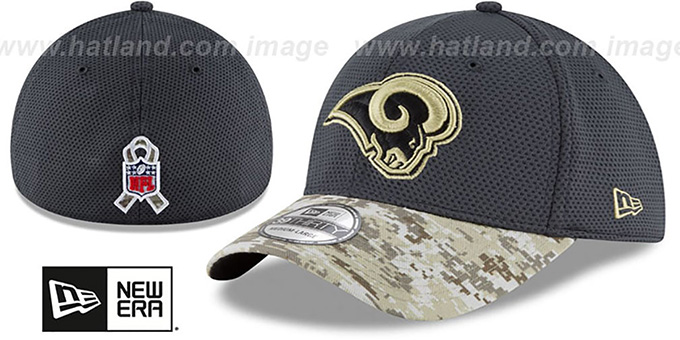 Rams '2016 SALUTE-TO-SERVICE FLEX' Grey-Desert Hat by New Era