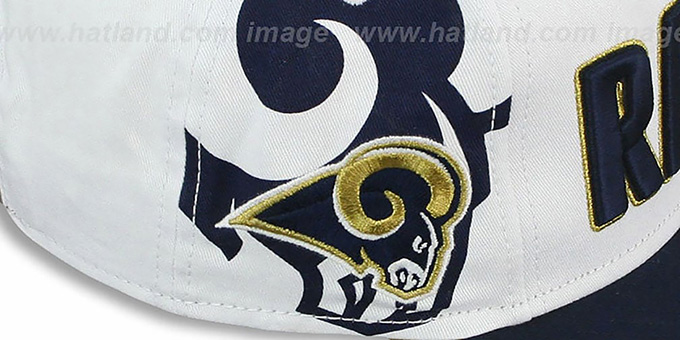 Rams 'BIGSIDE A-FRAME SNAPBACK' White-Navy Hat by New Era