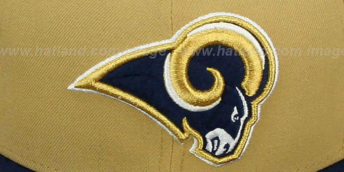 Rams 'NFL 2T-TEAM-BASIC' Gold-Navy Fitted Hat by New Era