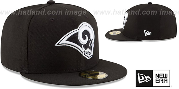 Rams 'NFL TEAM-BASIC' Black-White Fitted Hat by New Era