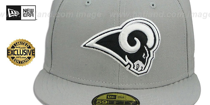 Rams 'NFL TEAM-BASIC' Grey-Black-White Fitted Hat by New Era