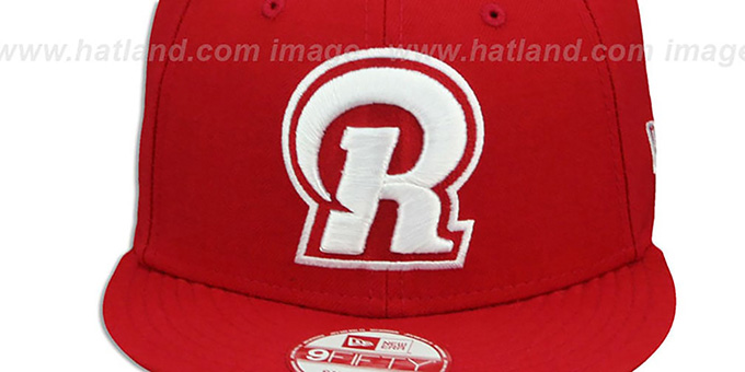 Rams 'R TEAM-BASIC SNAPBACK' Red-White Hat by New Era