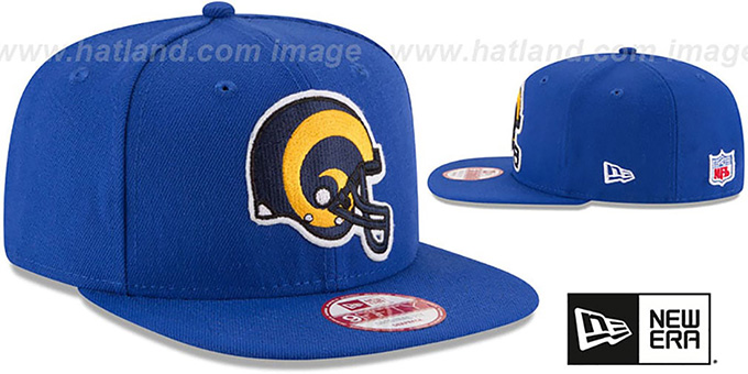 Rams 'RETRO-BASIC SNAPBACK' Royal Hat by New Era